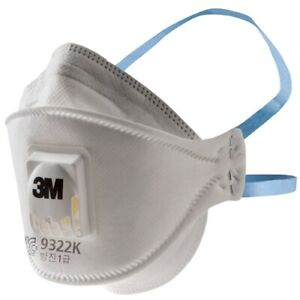 3m 9322k Disposable Respirator Dust Mask Particulate Matter Protection 10ea