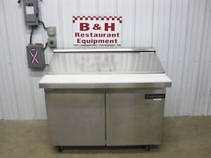 Continental 48 Two 2 Door Refrigerated Sandwich Prep Table Sw48 18m as