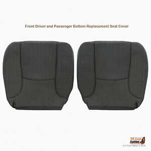 2004 2005 Dodge Ram 1500 St Driver Passenger Bottoms Dk Gray Cloth Seat Cover