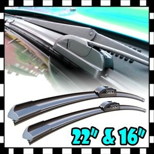 New 22 16 Oem Quality Bracketless Windshield Wiper Blade J hook All Season Set