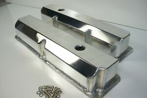 Ford Fe Fabricated Aluminum Tall Valve Covers 1 4 Billet Rail Bbf 352 390 428