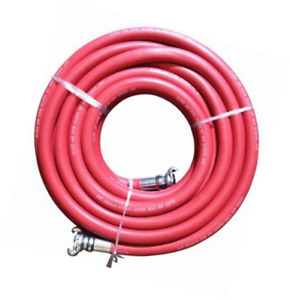 Red Jackhammer Rubber Air Hose 3 4 Universal chicago Couplings 50 Long