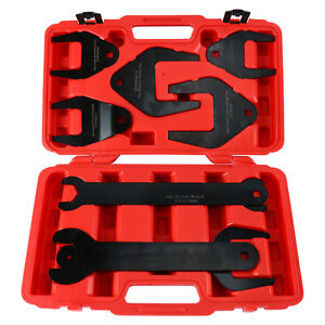 Fan Clutch Wrench Set 10pc Foreign Domestic Clutch Remover Installer Tool Set