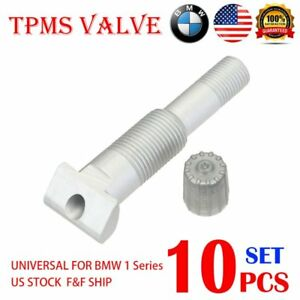 10x Tpms Valve System Repair Kit W 10x Valve Adapter For Bmw 1 Series 14 Us A