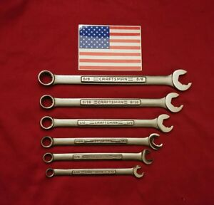 Vintage Craftsman Professional Combination Speed Wrench Set 6 Pc Usa Made Nos
