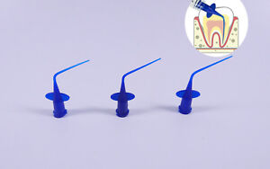 1000pc Dental Irrigator Syringe Tips Endodontic Irrigation Needle Intraoral Blue