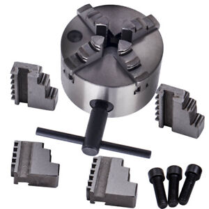 4 Jaw 4 Self centering Lathe Chuck Milling K12 100 Inside Outside Jaws 100mm