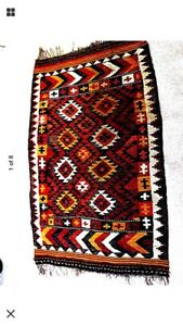 Turkish Rug Kilim Collectible 4 X 6 Beautiful Old Colorful
