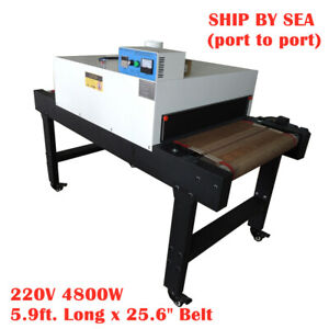 Sea 4800w T shirt Conveyor Tunnel Dryer 25 6 X 5 9 Belt For Screen Printing