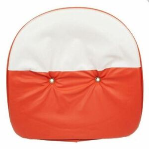 Orange And White Tractor Pan Seat Cover Universal Ford John Deere Massey Case