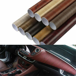 Wood Grain Textured Vinyl Wrap Sticker Decal Self adhesive Car Internal Stickers
