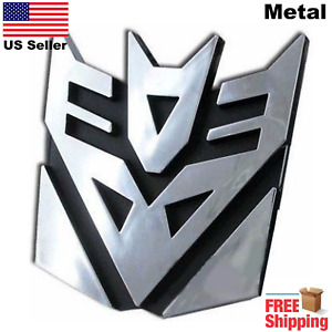 3d Metal Transformers Emblem Decal Autobots Decepticon Car Sticker 3
