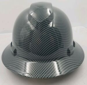 Full Brim Hard Hat Custom Hydro Dipped Expanded Metal Carbon Fiber Sick New