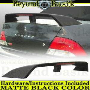 2002 2003 Mitsubishi Lancer Matte Black Factory Style Spoiler Trunk Wing W led