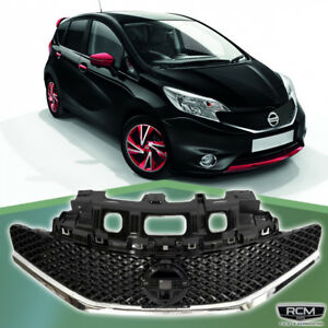 Fits For Nissan Versa 2014 2016 Front Grill Sr Style Gloss Black Grille