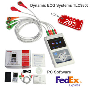 Usa Fedex 24 Hours 3 Channel Ecg ekg Holter Monitor System Usb Software contec
