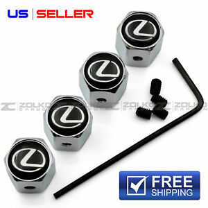 Anti Theft Valve Stem Caps Wheel Tire For Lexus Va22 Us Seller
