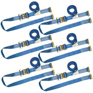 Vulcan Logistic Strap For E Track Ratchet Style 20 Blue 6 Pack