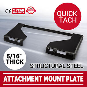 5 16 Quick Tach Attachment Mount Plate Structural Steel 46 Lbs Loader