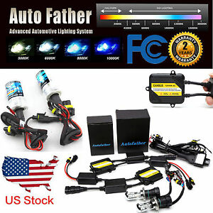 55w Full Canbus Ac Hid Xenon Conversion Kit No Flicker H1 H3 H7 H11 9005 9006 H4