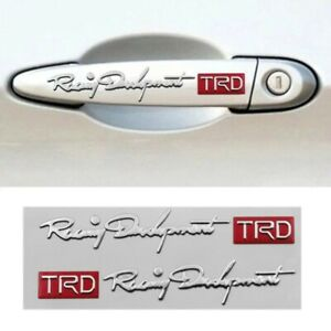 For Toyota Racing Development Trd Emblem Silver And Red Fast Shipping