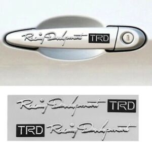 For Toyota Racing Development Trd Emblem Silver And Black Fast Shipping