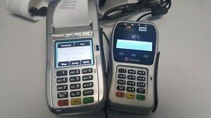 First Data Fd 130 Credit Card Machine Terminal Fd 35 Pin Pad Google Aple Pay