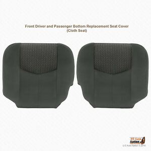 2003 Chevrolet Avalanche 1500 2500 Left Right Lower Bottoms Cloth Cover Darkgray