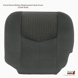 2003 2004 Chevy Avalanche 1500 2500 Driver Bottom Cloth Seat Cover Dark Gray