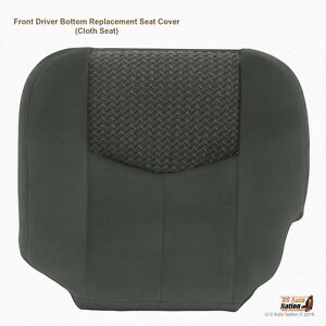 2003 2004 Chevy Avalanche Driver Bottom Cloth Seat Cover Replacement Dark Gray
