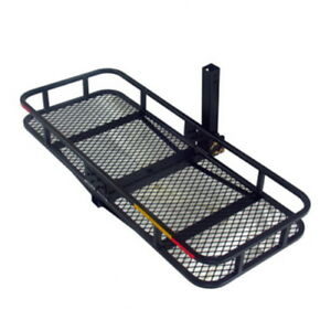Black Hitch Mounted Folding Cargo Carrier With Waterproof Bag Ez cc6016 60 x20