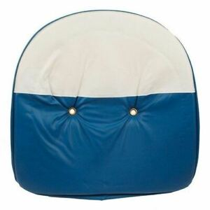 Blue White Tractor Pan Seat Cover Universal Ford John Deere Massey Case