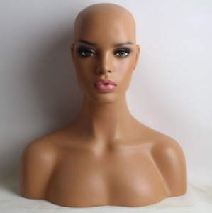 Top Quality Fiberglass Mannequin Head Bust For Wigs jewelry glasses Display
