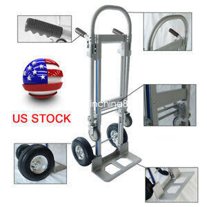 2in1 Foldable Hand Truck Convertible Hand Truck Converts From 2 To 4 Wheels