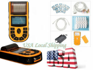 Hand held One Single Channel Ecg ekg Machine Ecg 80a free Software Usps Shipping