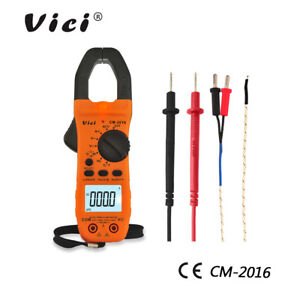 Vici Digital Clamp Meter Ac dc Current Voltage Multimeter Temp Volt Amp Tester