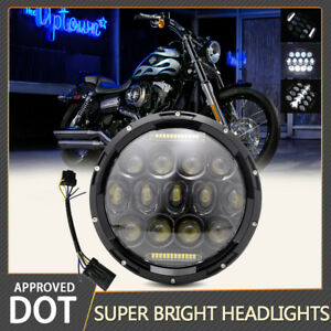 2019 Brightest 130w 7 Round Led Headlight Drl Turn Signal Light For Jeep Harley