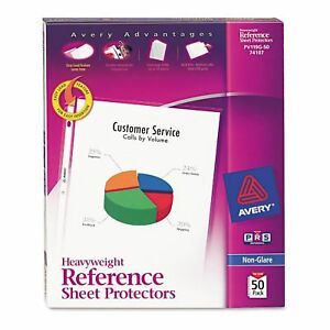 Avery Heavyweight Sheet Protectors Non glare Various Counts Best Price