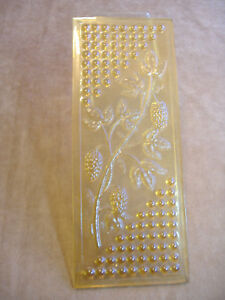 Very Early Nantucket Glass Panel With Berries Salvage Window Piece 10 X 4
