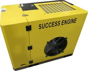 New Success Engine Sec7a 8 10hp Base Mount Rotary Screw Air Compressor No Tank