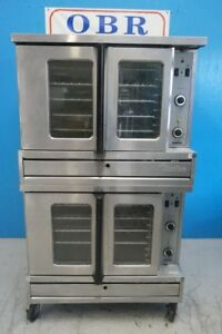 Garland Sunfire Natural Gas Full Size Double Stack Convection Oven Model Sdg 1