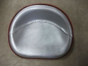 Ih Farmall Deluxe Upholstered Seat Pan Silver Vinyl