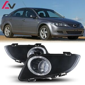 For Mazda 6 03 05 Clear Lens Pair Bumper Halo Fog Light Lamp Oe Replacement Dot