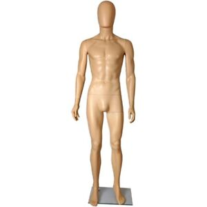 Mn 251 Plastic Egghead Male Men s Full Size Mannequin With Removable Head ehm