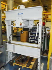 Dake 75 Ton Electric Hydraulic H Frame Shop Press Model 5 075
