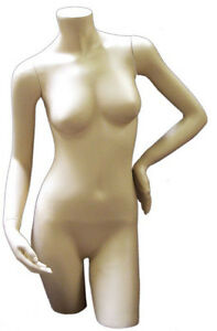Mn 137 Fleshtone Freestanding Female Torso Form With Arms
