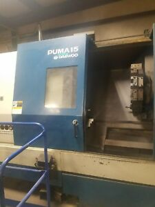 Used Daewoo Puma 15 Cnc Turning Center Lathe Fanuc Tailstock 15 Chuck 1997