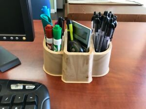 New Enjoy Plastics Desk Jumbo Pencil Holder Made In Usa Marble Brown 56 Pack