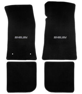 1965 70 Mustang Convertible Shelby Heavy Plush Lloyd Floor Mats Black Shelby