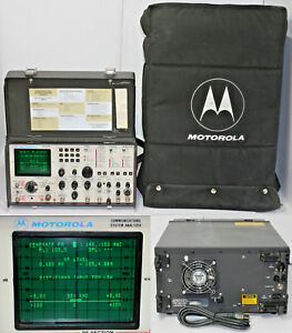 Motorola R 2001d hs Communications System Analyzer Service Monitor W Case